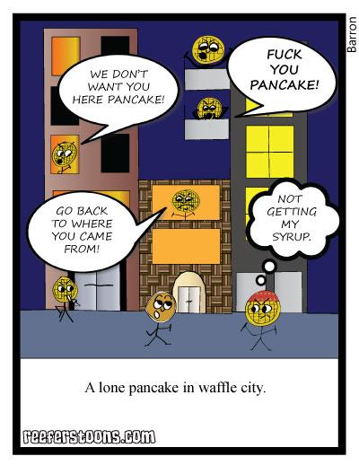 Pancake in waffle city