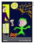 alien trick or treat cartoon