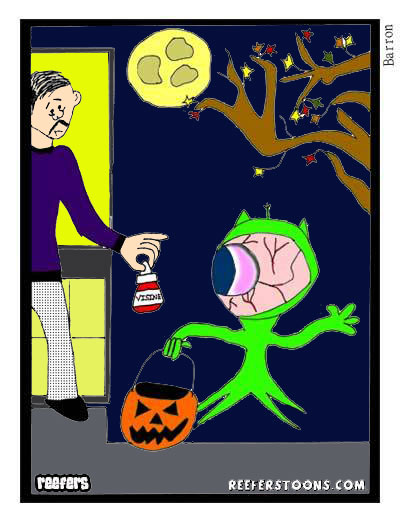 alien trick or treat cartoon
