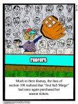 Baseball season ticket holder - Foul Ball Marge