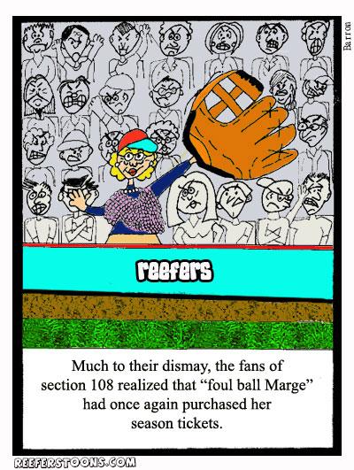 Giant gloved foul ball snatching grandma at baseball game