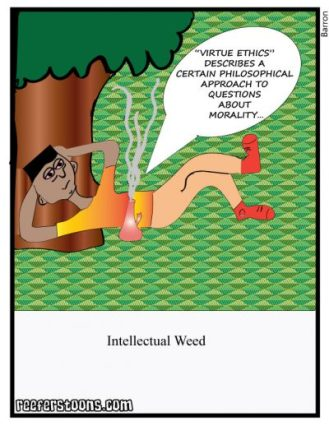 intellectual weed cartoon