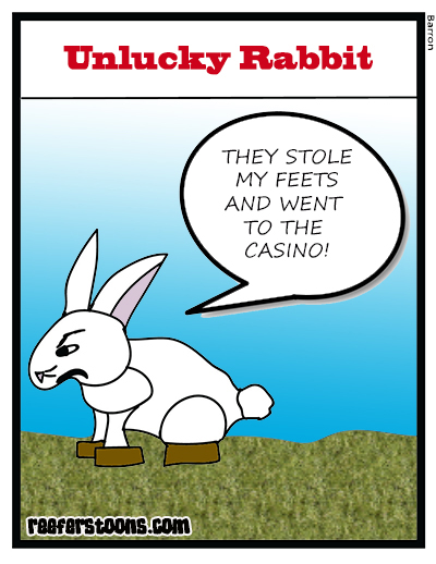Unlucky Rabbit Cartoon