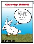 Unlucky Rabbit Cartoon